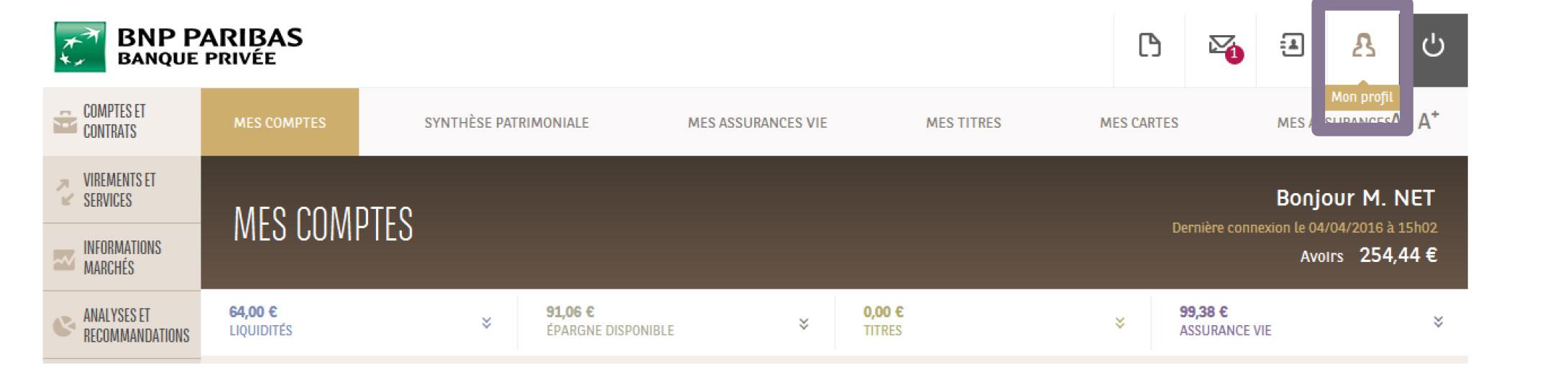 Ma Banque Mes Contacts Bnp Paribas Banque Privee